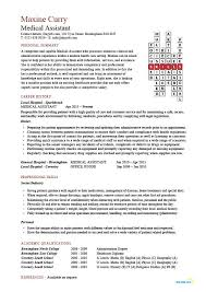 Medical Assistant resume Crossword, Medical Assistant resume example ...