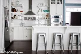 Modern Kitchen Bar Stools Modern Metal Kitchen Bar Stools With White Wooden  Island Surface Also White Tile Backsplash Kitchen Countertop Kitchen Hood