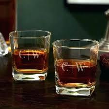 monogrammed scotch glasses customized whiskey glasses personalized crystal scotch glasses