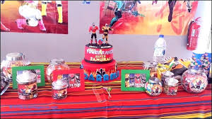 power rangers party decorations birtay ideas full maps locations supplies