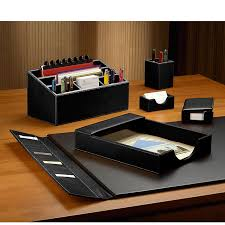 morgan desk set six pieces leather desk set desk accessories levenger