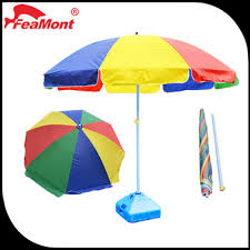 Image Heavy Duty Chinese Factory Promotions 170t Polyester Rainbow Color Beach Umbrella Alibaba Chinese Factory Promotions 170t Polyester Rainbow Color Beach