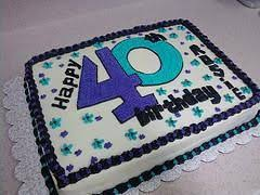 40th Birthday Cake Ideas Things For My Wall Birthday Sheet Cakes