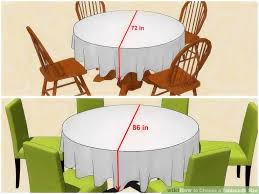 3 ways to choose a tablecloth size wikihow with what size tablecloth for 72 round table