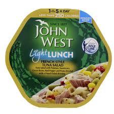 John West Mediterranean Tuna Light Lunch John West Light Lunch French Style Tuna Salad 220 Gm Mercatco