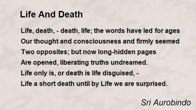 short poems about life and death