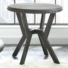 unfinished round end tables silver table with metal base small accent kitchen tops