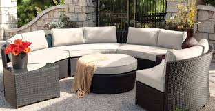 Patio & Pergola Perfect Circle Outdoor Sectional Sofa With Round