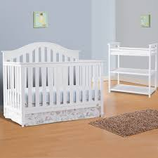 convertible crib and dressing table