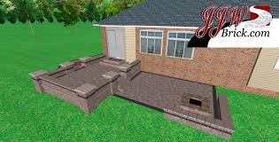 Raised paver patio Retaining Wall Raised Paver Patio Macomb Mi Jjw Brickcom Raised Brick Paver Patio With Seating Wall And Fire Pit In Macomb Mi