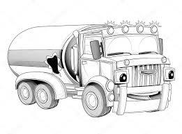 Kleurplaat Cartoon Vrachtwagen Stockfoto Illustratorhft 53736457