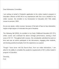 Recommendation Letter For Grad School Letter Of Recommendation For Master Degree Online Masters