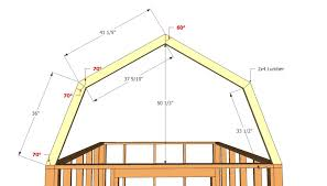 Barn Shed Plans  HowToSpecialist  How To Build Step By Step DIY Gambrel Roof Plans