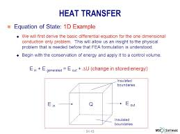 heat transfer equation of state 1d example