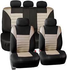 fh group fb068beige115 beige universal car seat cover premium 3d air mesh design airbag and rear split bench compatible souq uae