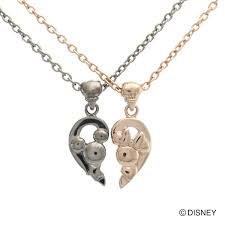 the latest di001lpg di001mbk disney mickey mini pink black share heart pair necklace white clover white clover pendant