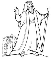 Printable Moses Coloring Pages Coloringmecom
