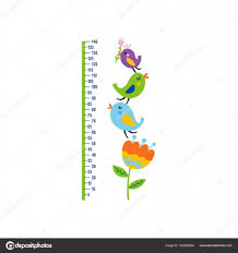 Cute Growth Chart Cute Growth Chart For Kids Stock Vector Webmuza 162958224