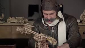 Деревянный механический <b>конструктор Ugears Авиатор</b> 40 34 см ...