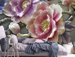 3d flower wallpaper 3d wall sticker