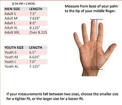 Youth Glove Size Chart Football Joker Baseball Batting Gloves Mlb