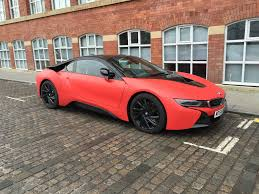 bmw 2015 i8 red. Simple Red Custom Size  2015 BMW I8 Wrapped In Matte Red Throughout Bmw I8 I