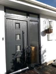 front door composite 4 panel glazed entry door side glass panels