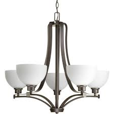 legend collection 5 light antique bronze chandelier with sculpted glass