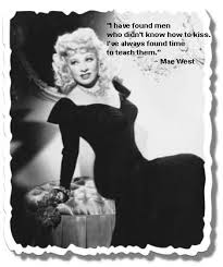 kissing e mae west