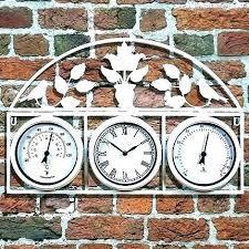 outdoor wall clock and thermometer garden clocks outside clocks outdoor wall clock and thermometer garden clocks