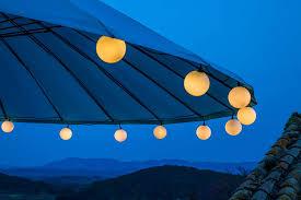 White Cord Led String Lights Amazon Com Elumining Outdoor White Party Led String