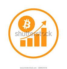 Bitcoin Currency Chart Bitcoin Crypto Currency Chart Simbol Rising Stock Vector