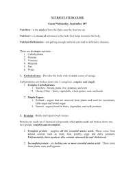 Foods 1 Nutrition Study Guide