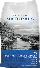 diamond naturals beef meal rice formula dry dog food 40 lb bag chewy
