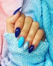 Nice Colour Combo Nehty Modré Nehty Barevné Nehty A Gelové Nehty