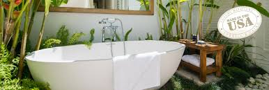 freestanding jetted bathtub and spa