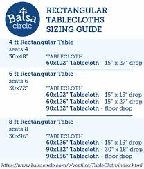 Use Our Rectangular Tablecloths Sizing Guide To Find The