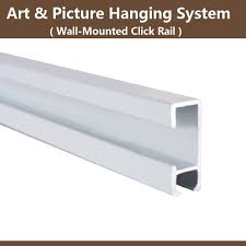 free shipping picture hanging systems hardware art display wall mounted hanging rail stainless steel hanger rail tracks 10pcs in home storage organization  on wall art hanging hardware with free shipping picture hanging systems hardware art display wall