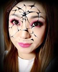 2016 broken doll temporary makeup body paint face painting 2016