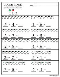 kindergarten math printable worksheets kindergarden math worksheet ...