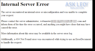 "What's An ""internal Server Error"" And How Do I Fix It? - Ask Leo!"