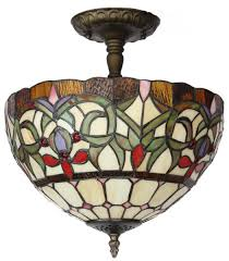 amora lighting am1081hl12 style stained glass ceiling light fixture close to ceiling light fixtures com