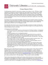 Chicago Manual Of Style 16th Summary Citationspdf A Manual For