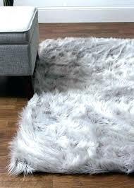 faux mongolian fur rug gray fur rug super grey faux astounding house of hand woven sheepskin