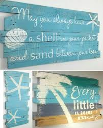 beachy paintings on wood by woodbury creek fabulous rustic beachy art made from reclaimed pallet wood palm trees starfish es and o