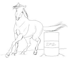 Printable Race Horse Coloring Pages Cartoon Horse Coloring Pages