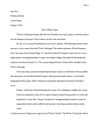 Word Document Mla Format Formatting