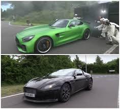 2017 aston martin v8 vantage. 2018 aston martin v8 vantage prototype vs. 2017 mercedes-amg gt r sound comparo d