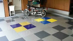 raceday l and stick vinyl garage floor tiles