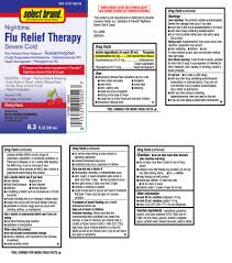 Flu Relief Therapy Nighttime Severe Cold (liquid) Select Brand Dist.